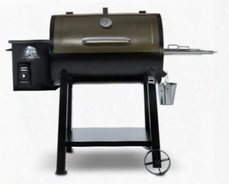 72440 Pellet Series Pb440d Wood Pellet Smoker With 40 000 Btus 440 Sq. In. Total Cooking Area Dial-in Digital Control With Led Read-out Black And Copper