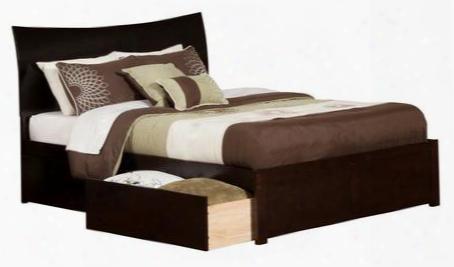 Ar9152111 Soho King Flat Panel Foot Board W/ 2 Urban Bed Drawers