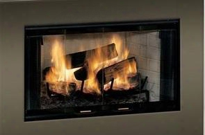 "Be Royalton 36"" Radiant Wood Burning Fireplace With Full Refractory Firebox Traditional Brick Interior Ash Lip And Safey"
