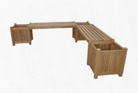 Bh-7121pl Planter Bench (2 Bench + 3 Planter