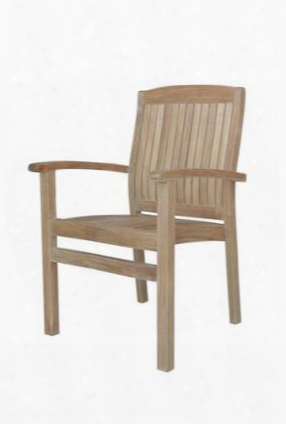 "Chs-022 Sahara 22.5"" Stackable Dining Armchair In Natural"