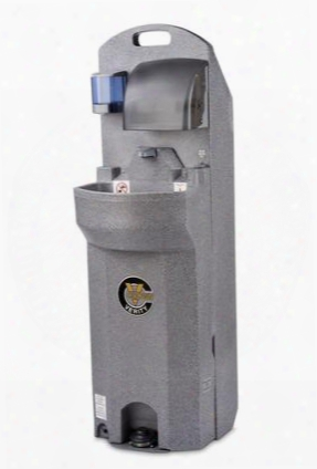 """Cv-ehs-e 62"""" High Electric Economy Hand Sink With Warm Water Wash 15 Gallon Fresh Water Capacity Extra Large Basin Soap And Towel Dispensers And Hands-free"""