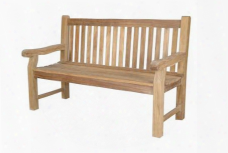 "Devonshire Collection Bh-705s 60"" 3-seater Extra Thick Bench With Stretchers Straight Back Style And Wooden Dowel In Natural"