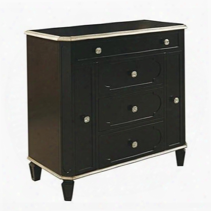 Ds-730090 Accent Jewelry Chest In Black Wood