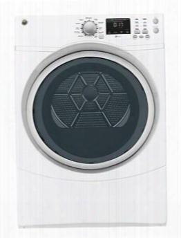 "Gfdn160gjww 27&"" Front Load Gas Dryer With 7.5 Cu. Ft. Capacity 10 Cycles And 4 Heat Selections He Sensor Dry Dura Drum Interior And Quiet-by-design In"