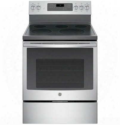 "Jb750sjss 30"" Freestanding Electric Convection Range With 5.3 Cu. Ft. Capacity 9""/6"" Power Boil Element Hidden Bake Self-clean And Fast Preheat In"