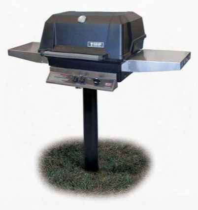 Patriot Wcimpp-n In-ground Post Mount Natural Gas With 574 Sq. In. Total Cooking Area 40 000 Btu Heavy-duty Stainless Steel H-burner And Tsainless Steel Side