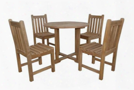 "Set-229 5-piece Bistro Set With 35"" Montage Round Bistro Table And 4 Braxton Dining"