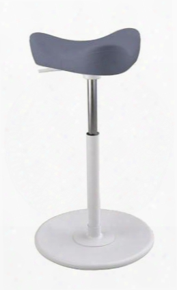"""Move Small 2700 Dinimica 9058 Wht Me Wht 22"""" - 32"""" Sit-stand Chair With Dinimica Upholstery 9058 Color Code White Base Medium Lift Height And White Gas"""