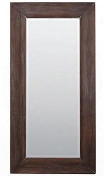 24490 Showood Mirror With Rectangular Shape And Wood Frame In Cocoa