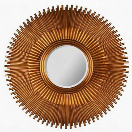 40245 Cole Mirror In Aged Gold