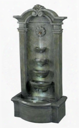 53245ms Sienna Floor Fountain In Mossy Stone