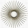 4538 Bronlin Sunburst Mirror in Antique Silver