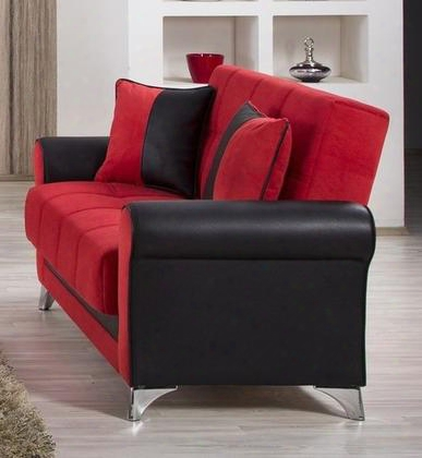 "Urban Style Collection Uslstr 63"" Convertible Love Seat Wit Matching Pillows Polished Metal Feet Tufted Detailing And Piped Stitching In Black And Truva"