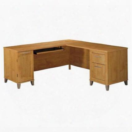 """Wc81410k Somerset 71"""" L-desk In Maple Cross"""