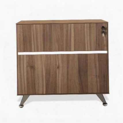 """300 Collection 340-wal 32"""" Lateral Filing Cabinet With 1 File Drawer 1 Utility Drawer Drawer Lock Non Scratch Surface Chrome Base And High Pressure"""