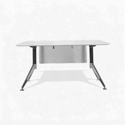 """400 Collection 400-wh 55"""" Computer Desk With Steel Base Wire Management Non Scratch Surface Commercial Grade And High Pressure Melamine Material In"""