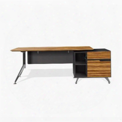 484-ze Zebrano Executive Desk With Right