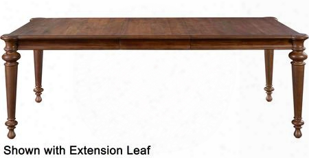 """Cascade 4940-532 68"""" Wide Rectangle Leg Table With One 20"""" Leaf Felt Leaf Storage Bag Included And Turned  Legs In"""