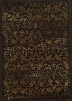"Chtch443700129116 Chateau Ch4437-9'10"" X 12'6"" Power-loomed 100% Heat-set Polypropylene Rug In Brown Rectangle"