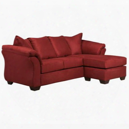 Fsd-1109sofch-red-gg Stamp Design By Ashley Darcy Sofa Chaise In Red