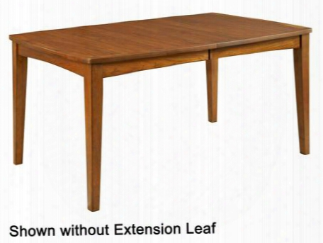 "Mardella 4277-532 64"" Wide Leg Dining Table With 18"" Extension Leaf Felt Leaf Storage Bag Included And Tapered Legs In Cognac"
