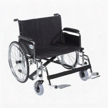 Std30ecdfa-sf Sentra Ec Heavy Duty Extra Wide Wheelchair Detachable Full Arms Swing Away Footrests 30