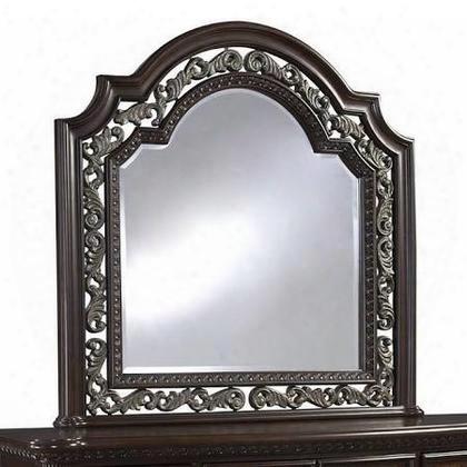 3530-030 San Marino Mirror With Carving Detailing And A Sanibel Veneer