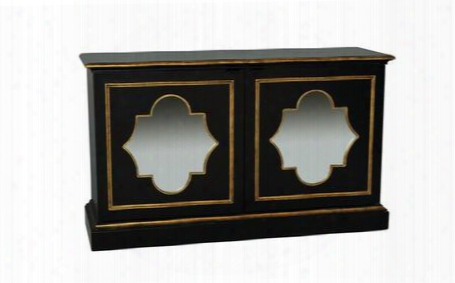 730102 Black Console Mirrored