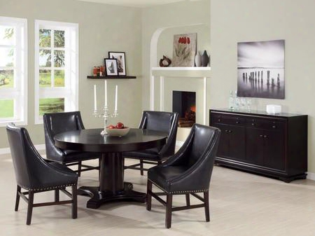 I 1716 Dining Chair - 2pcs / 38&quo T;h / Dark Brown Bonded