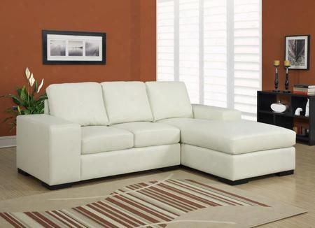 I 8200iv Sofa Lounger - Ivory Bonded
