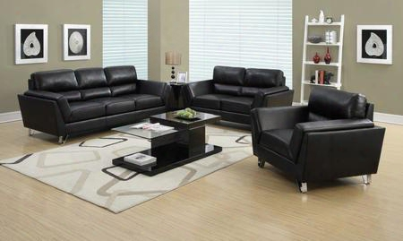 I 8201bk Chair - Black Bonded