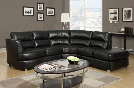 I 8445bk Sofa - Sectional / Black Bonded