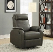 I 8081GY Recliner - Swivel Rocker / Charcoal Grey Bonded