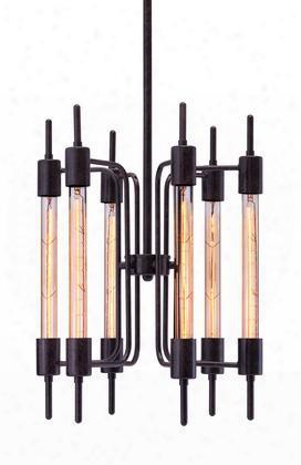 "98419 8"" Gisborne Ceiling Lamp In Distressed"