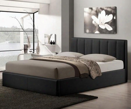 Baxton Studio Cf8287-queen-black Templemore Queen Size Platform Bed With Gas-lift Mechanism Underneath Storage Space Faux Leather Upholstery Metal And Wood