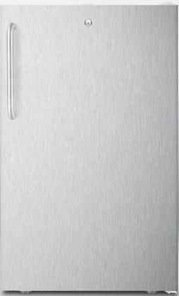 "Cm411lbi7sstb 20"" Commercially Approved Compact Refrigerator With 4.1 Cu. Ft. Capacity Factory Installed Lock Hospital Grade Cord And Crisper Drawer In"