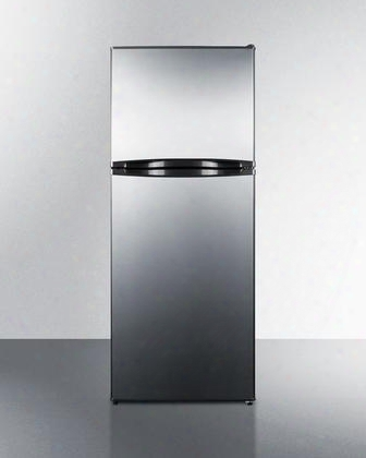 """Ff1077ssim 24"""" Top Freezer Refrigerator With 9.8 Cu. Ft. Capacity Frost Free Operation Icemaker Adjustable Glass Shelves Crisper Adjustable Thermostat And"""