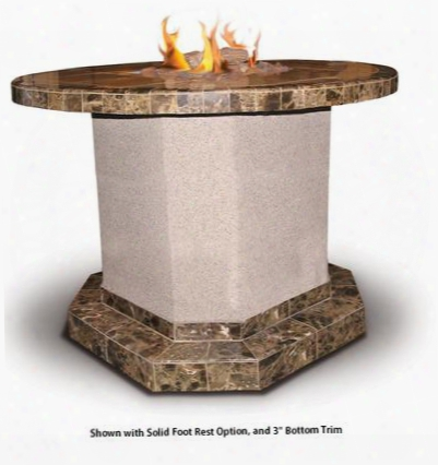 "Fpt-r1050t 48""w X 72""d X 45""h Fire Pit With Four Piece Log Set Lava Rocks 55 000 Btus And Piezzo Ignition System: Liquid Propane Or Naturaal Gas"
