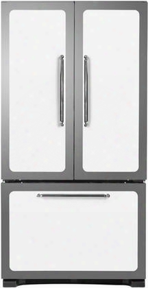 "Hcfdr23-wht 36"" Classic French Door Refrigerator With 22.6 Cu. Ft. Capacity Tri-level Organization System Adjustable Glass Shelves Integrated Alarm System"