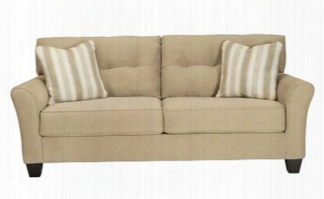 Laryn Collection 5190238 Sofa With Fabric Upholstery Piped Stitching Tufted Detailing Tapered Legs And Contemporary Style In