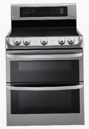 "Lde4415st 30"" Freestanding Double Oven Electric Range With 5 Cooking Elements 7.3 Cu. Ft. Capacity 3200w Power Burner Self Clean Probake Convection And"