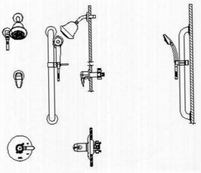 T17th325-20 Universal Tub/shower Universal Trim For