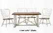 Baxton Studio CDC271 7 PC Dining Set White Longford Table + 6 Dining