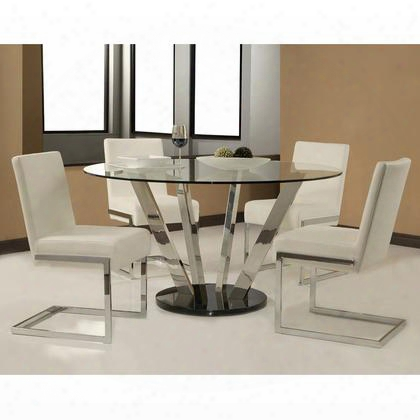 """Hudson Valley Hu-510-5501-hu-110 Dining Room Set With 55"""" Round Dining Table And Four Side"""