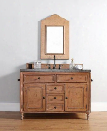 300-v48-drp-tbr Copper Cove 48 Driftwood Patina Single Vanity With Tropical Brown Stone