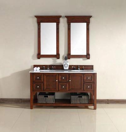 925-v60d-wch-gwh Souh Hampton 60 Double Vanity Warm Cherry Finish Guangxi Marble