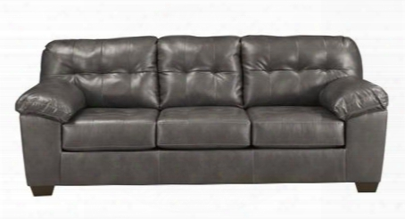 "Alliston Collection 2010238 93"" Sofa With Durablend Upholstery Plush Padded Arms Tufted Detailing And Contemporary Style In"