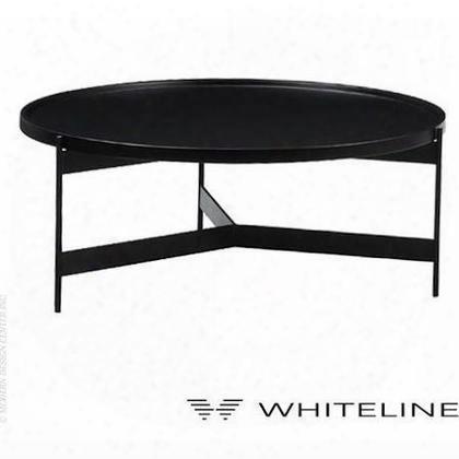 Ct1262-blk Bradley Coffee Table Matte Black Lacquer Metal