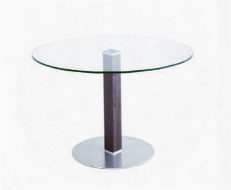 Lccadib201to Caf Brushed Stainless Steel Dining Table With Clear